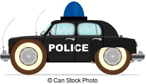 Vintage police car clipart free library Vector Clip Art of Police car - Silhouette of vintage police car ... free library