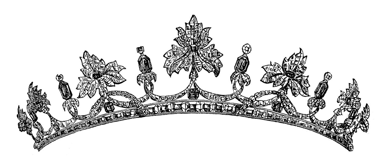 Vintage princess crown clipart clipart freeuse download Vintage clip art royal tiara - Clipartix clipart freeuse download