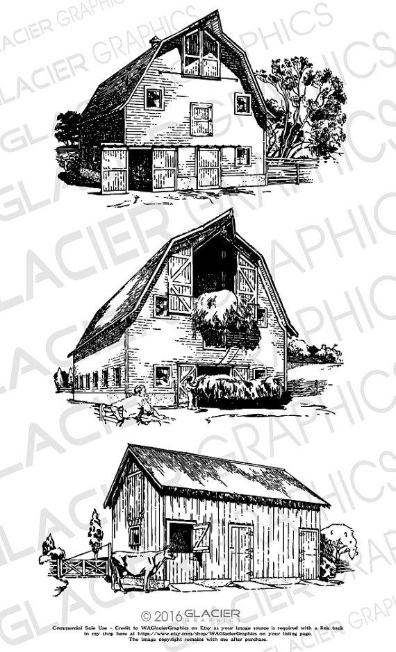 Old barns clipart svg download 3 Barn Illustrations Vintage Barn Clipart Vector Copyright ... svg download