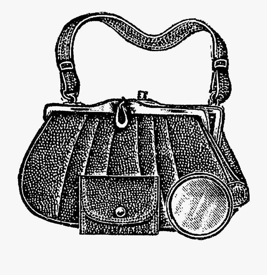 Vintage purse clipart jpg library Purse Clipart Vintage - Vintage Handbag Png #1458811 - Free ... jpg library