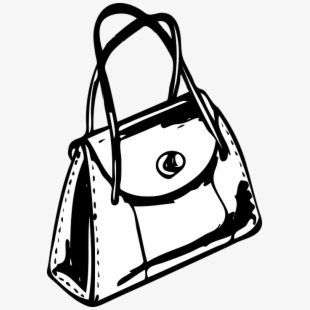 Vintage purse clipart graphic black and white stock Handbag, Purse, Lady, Style, Leather - Purse Clip Art #93075 ... graphic black and white stock