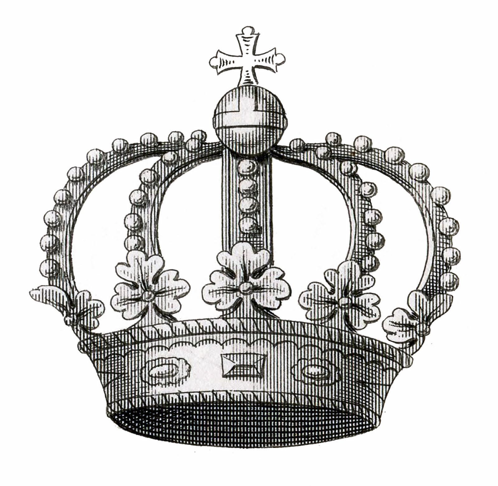 Vintage queen crown clipart jpg freeuse library Vintage Crown Image Download - The Graphics Fairy jpg freeuse library