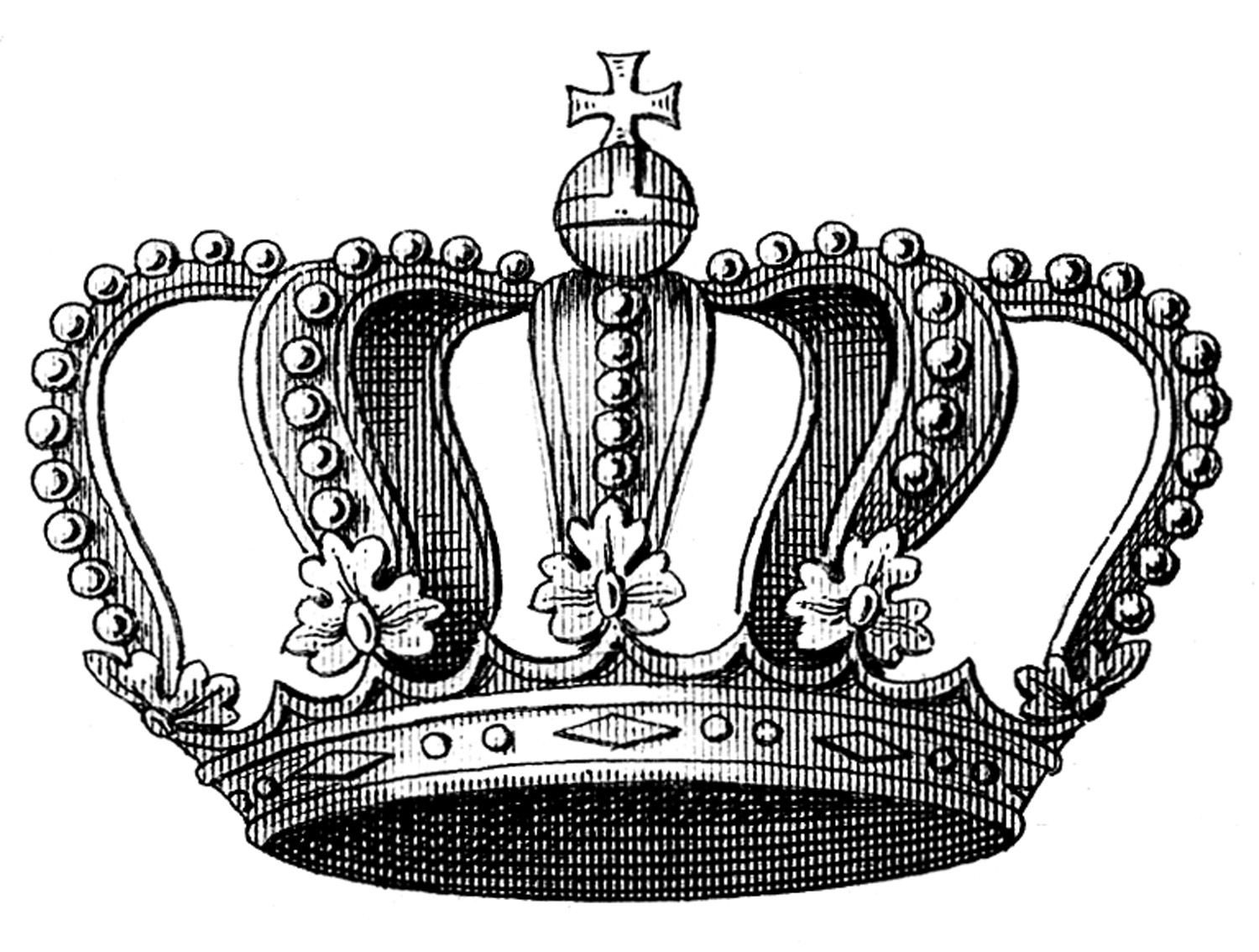 Vintage queen crown clipart jpg transparent library Vintage Clip Art - Beautiful Crown Graphic and Printable ... jpg transparent library