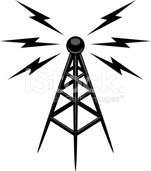 Vintage radio tower clipart vector royalty free flashy looking radio tower graphic | Random Images in 2019 ... vector royalty free