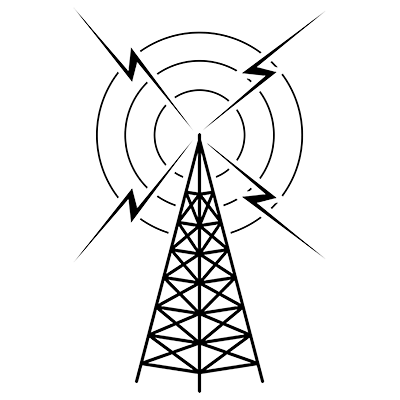 Vintage radio tower clipart picture transparent Radio Clipart Black And White | Free download best Radio ... picture transparent