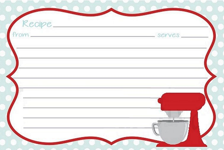 Vintage recipe card clipart clip freeuse download Recipe printable … | Scrapbook Printables | Print… clip freeuse download