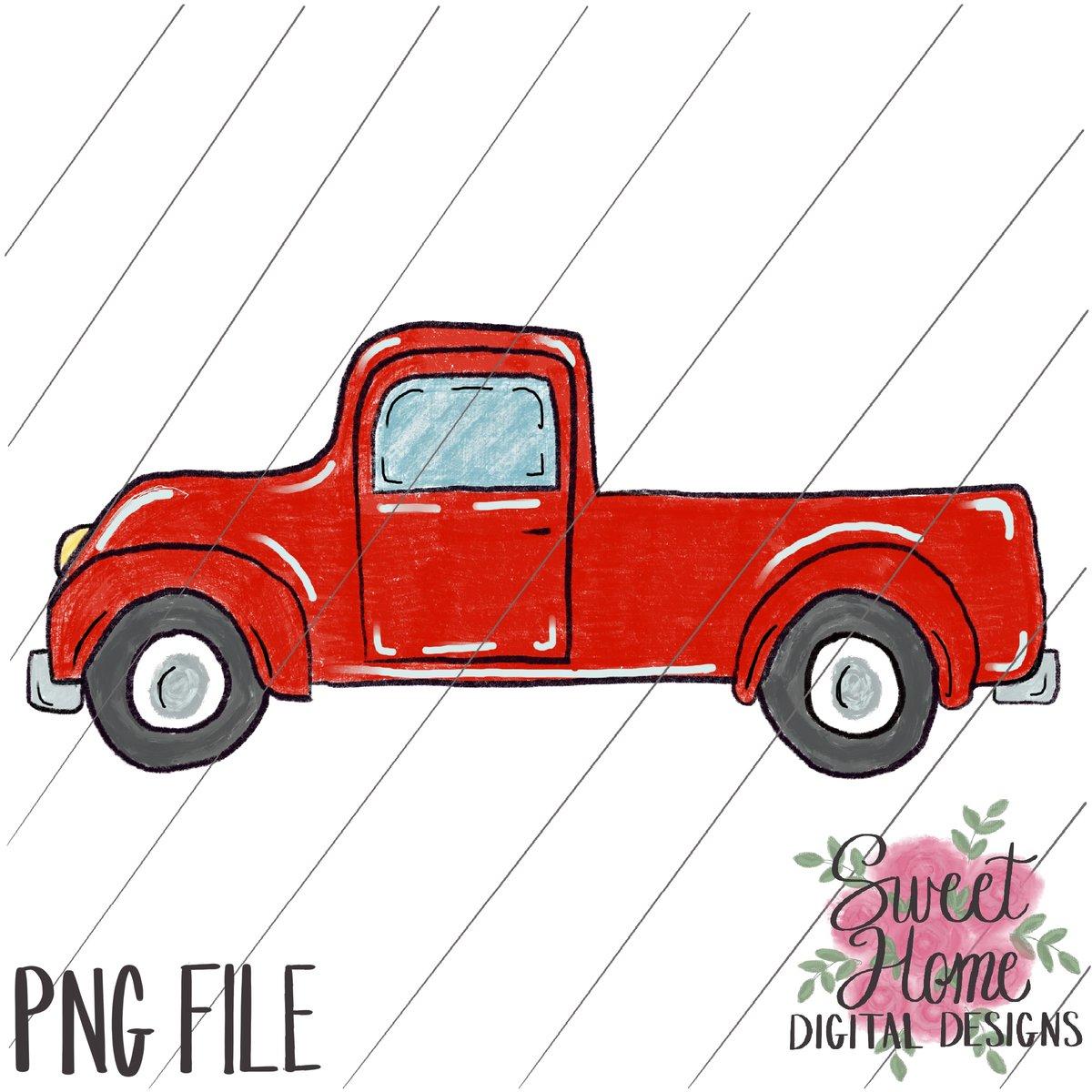 Vintage red truck clipart clip art transparent Vintage Red Truck PNG Printable clip art transparent