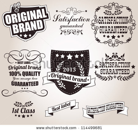 Vintage ribbon logo clipart clipart royalty free library Set Calligraphic Retro Vintage Labels Ribbons Stock Vector ... clipart royalty free library