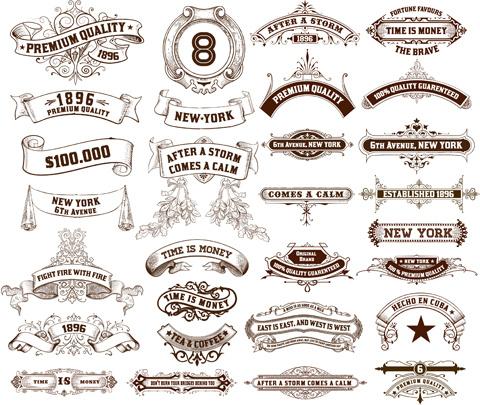 Vintage ribbon logo clipart png black and white Vintage ribbon vector free free vector download (9,528 Free vector ... png black and white