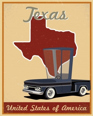 Vintage roadtrip clipart clip art download Texas road trip vintage poster: Royalty-free vector graphics clip art download