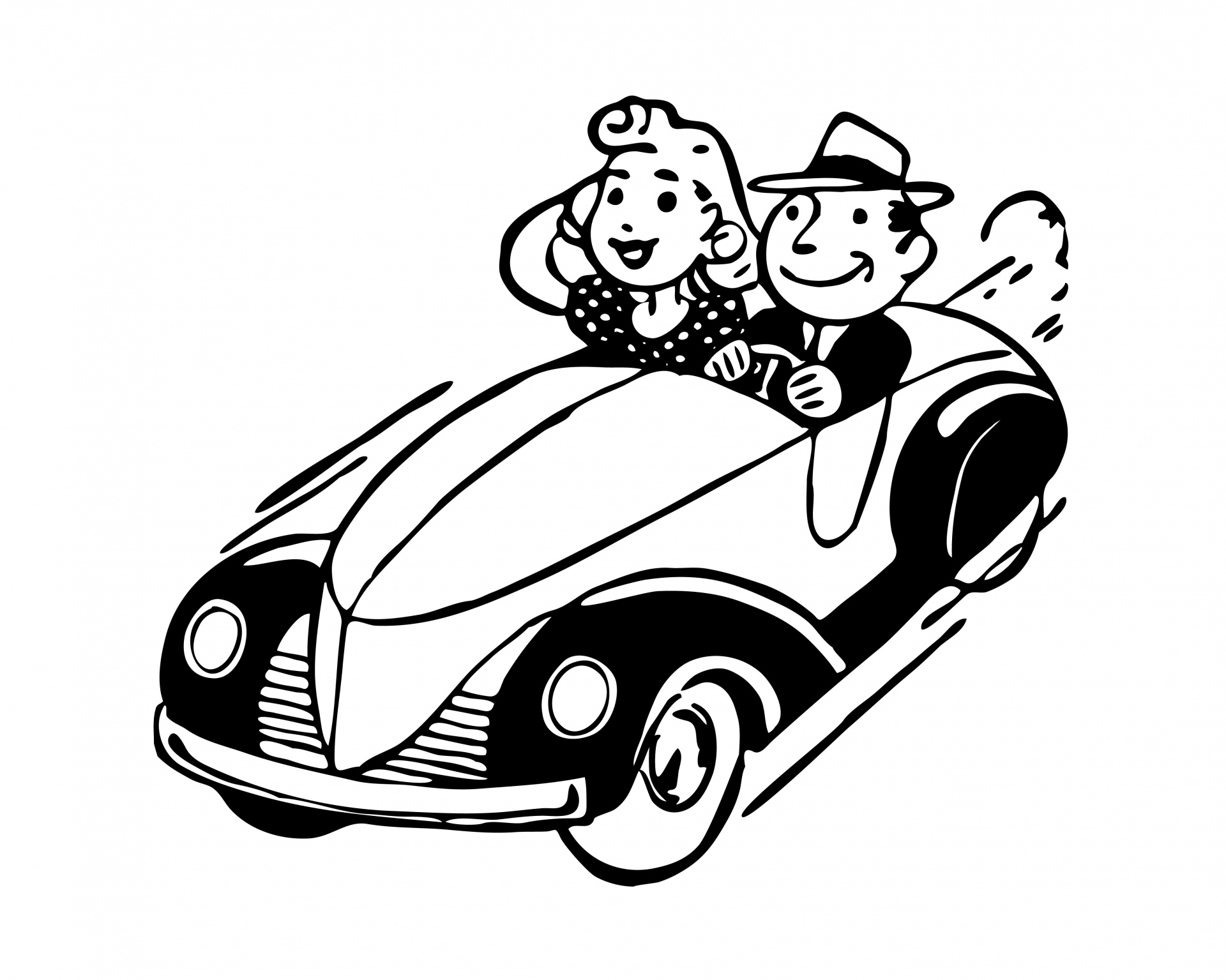 Vintage roadtrip clipart free library Couple road trip clipart free - Clip Art Library free library