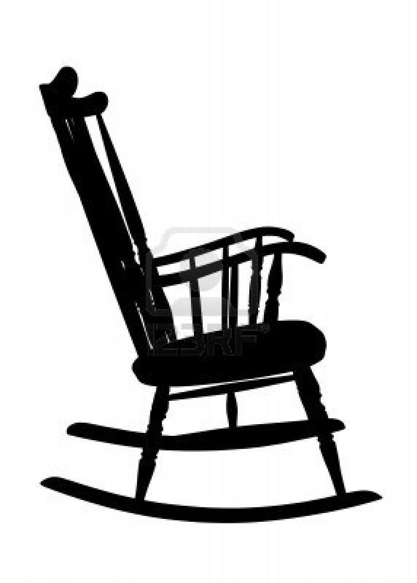 Vintage rocking chair clipart clip art free stock silhouette | rocking | Vintage rocking chair, Rocking chair ... clip art free stock