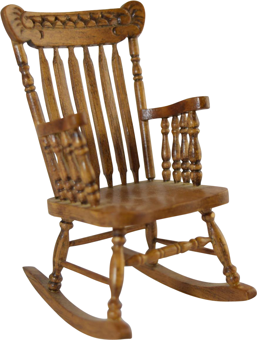 Vintage rocking chair clipart clip royalty free stock Vintage Miniature Dollhouse Pressed Back Type Spindle ... clip royalty free stock