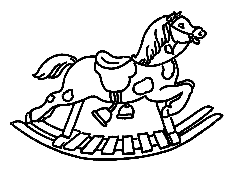 Vintage rocking horse clipart jpg black and white stock Vintage Line Art Rocking Horse - The Graphics Fairy jpg black and white stock