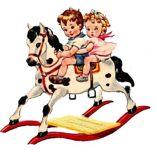 Vintage rocking horse clipart banner ROCKING HORSES/on Pinterest - Clip Art Library banner