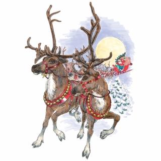 Vintage santa sleigh clipart vector black and white stock Santa Header Clip Art - Vintage Christmas Png Black And ... vector black and white stock