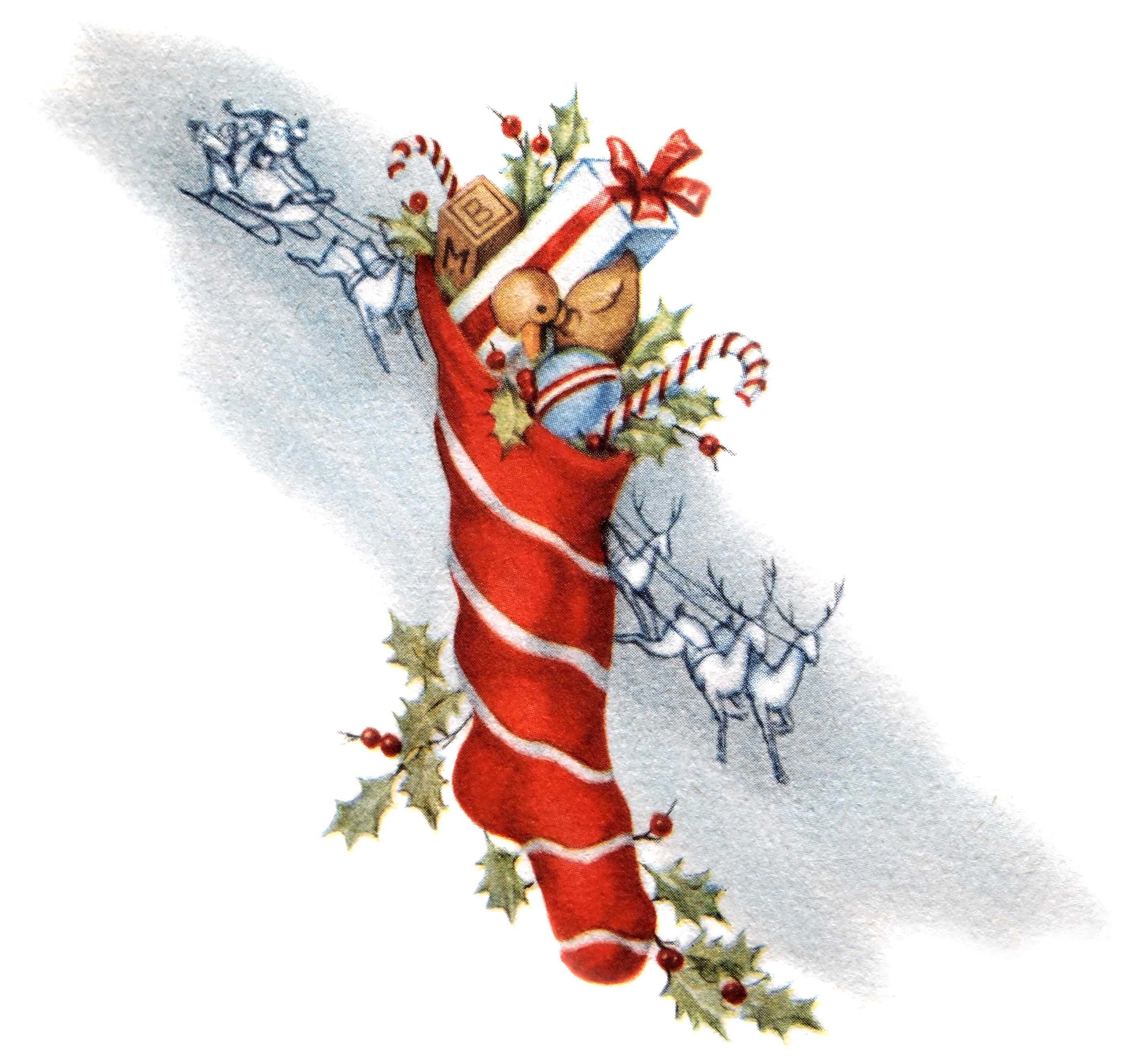 Vintage santa sleigh clipart png freeuse download Vintage Santa with Reindeer and Sleigh Clip Art @ Vintage ... png freeuse download