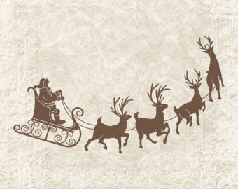 Vintage santa sleigh clipart image royalty free Free Sleigh Silhouette Cliparts, Download Free Clip Art ... image royalty free
