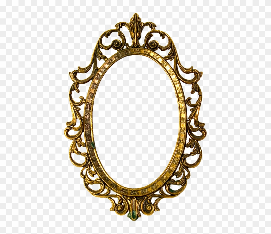 Vintage scalloped clipart clip royalty free Vintage Frame - Vintage Oval Frame Png Clipart (#3378437 ... clip royalty free