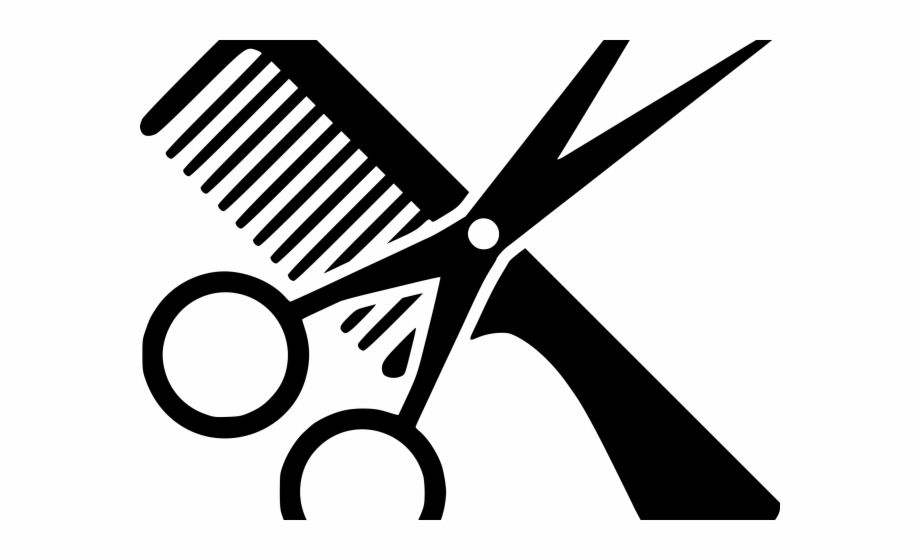 Vintage scissors with comb clipart picture black and white download Haircut Clipart Scissors Icon - Clipart Scissors And Comb ... picture black and white download