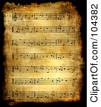 Vintage sheet music clipart royalty free stock Royalty-Free (RF) Sheet Music Clipart, Illustrations, Vector ... royalty free stock