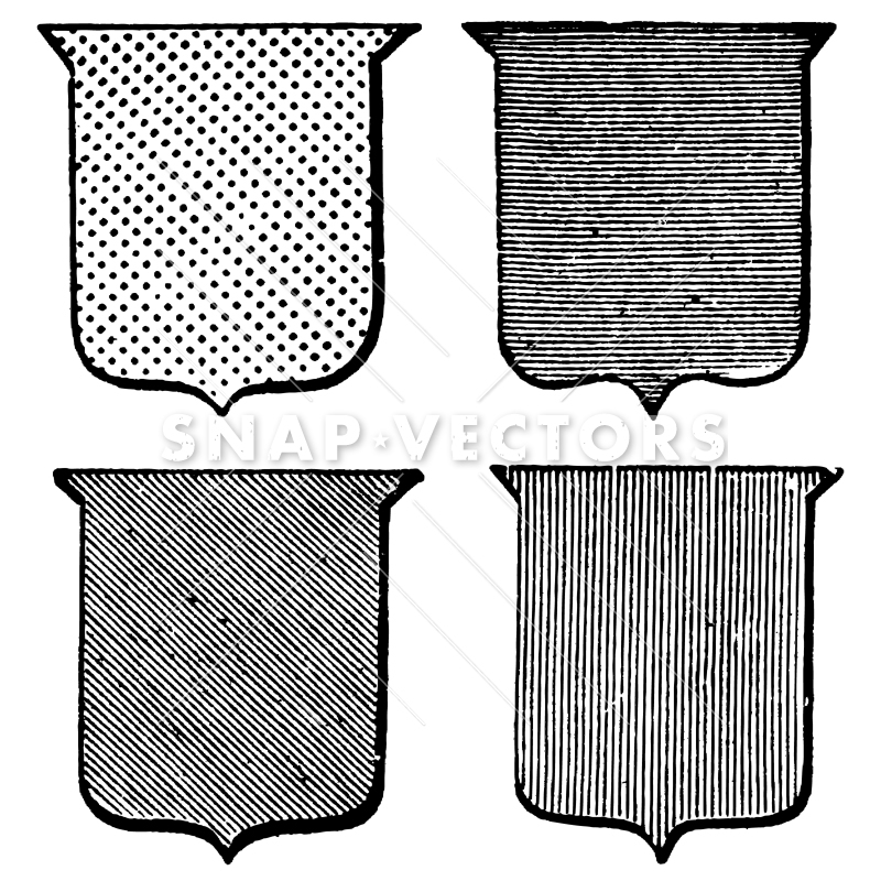 Vintage shield clipart picture freeuse stock Vector Clipart Vintage Shield Template Set picture freeuse stock