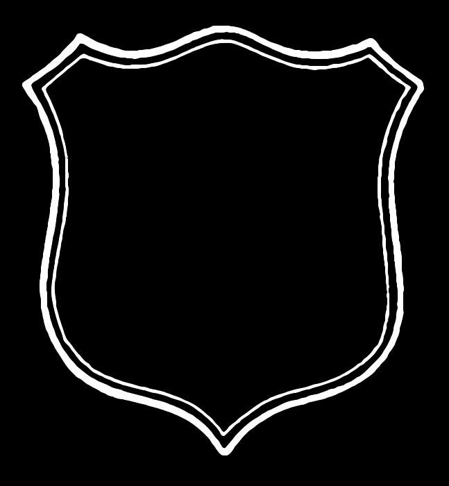Vintage shield clipart image black and white stock Vintage Clip Art - Antique Shield Shaped Label - Frame - The ... image black and white stock