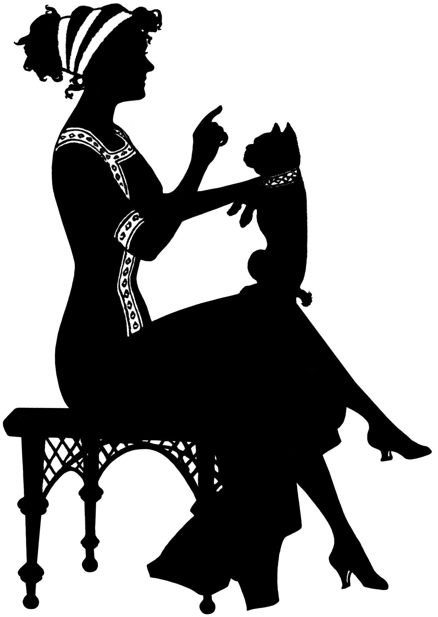 Vintage silhouettes clipart png free download LÁMINAS VINTAGE,ANTIGUAS,RETRO Y POR EL ESTILO ... png free download