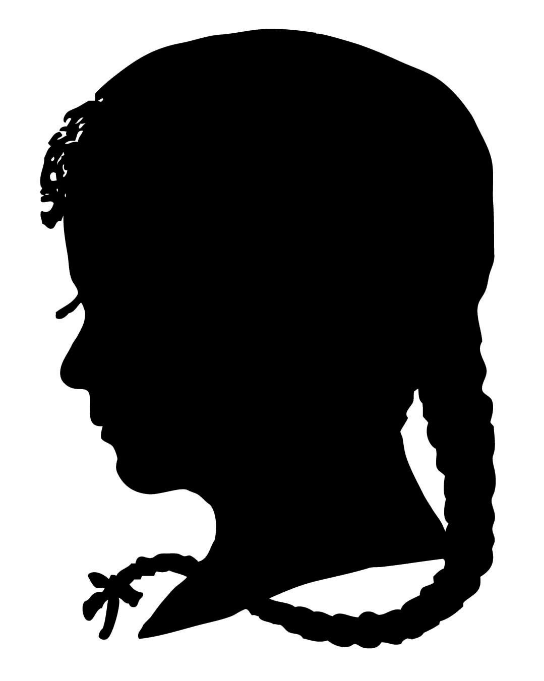 Vintige ladies silhouette clipart banner library download Vintage Clip Art - Silhouette Boy & Girl - The Graphics Fairy banner library download