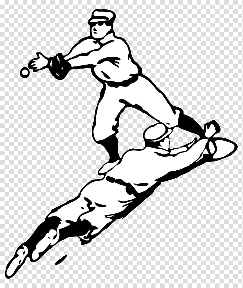 Vintage softball clipart