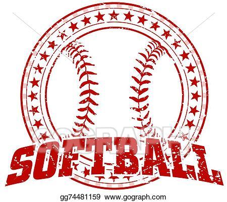 Vintage softball clipart png freeuse stock EPS Vector - Softball design - vintage. Stock Clipart ... png freeuse stock