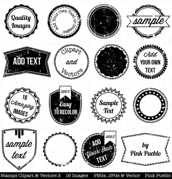 Vintage stamp clipart graphic library library Stamps 2 Clipart Clip Art, Vintage Postage Badge Label Frame ... graphic library library