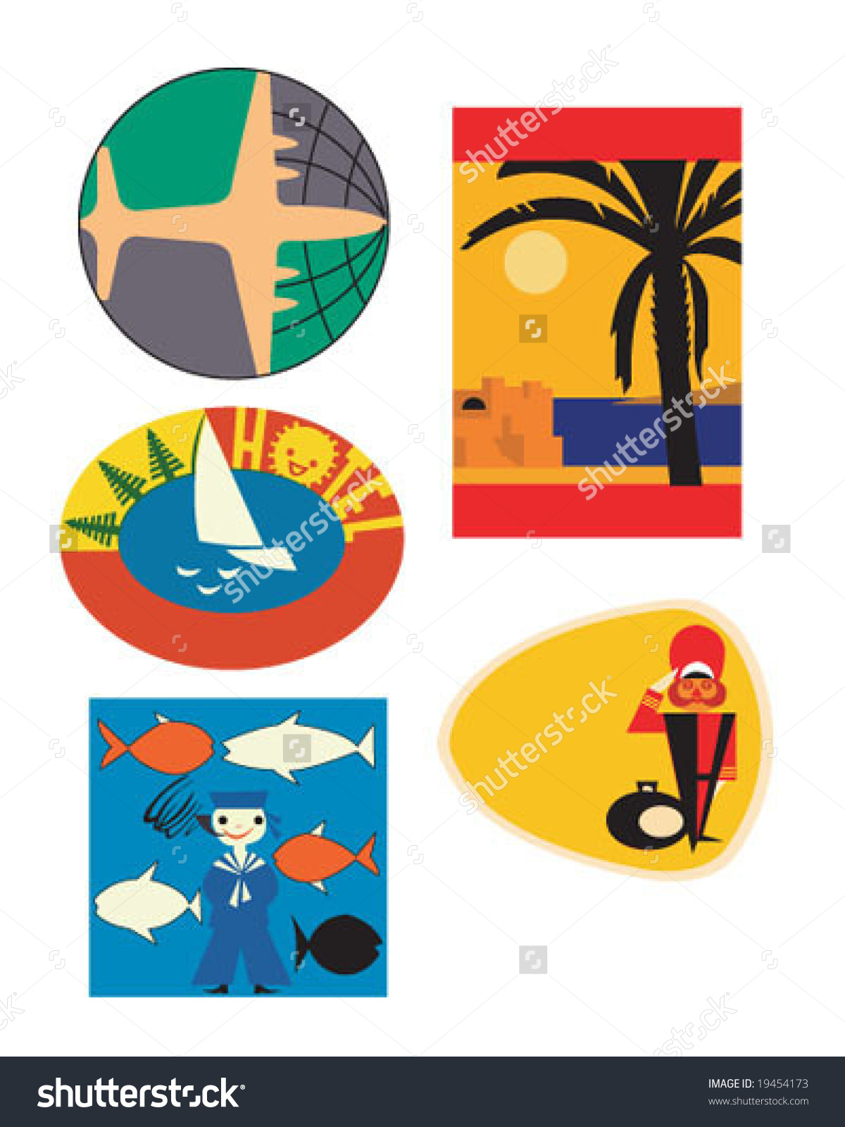 Vintage stickers clipart freeuse download Vintage Travel Stickers Clipart (88 ) - Free Clipart freeuse download