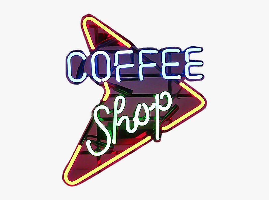 Vintage stickers clipart clipart freeuse stock Coffee Shop Sign Neon Niche Moodboard Freetoedit - Vintage ... clipart freeuse stock