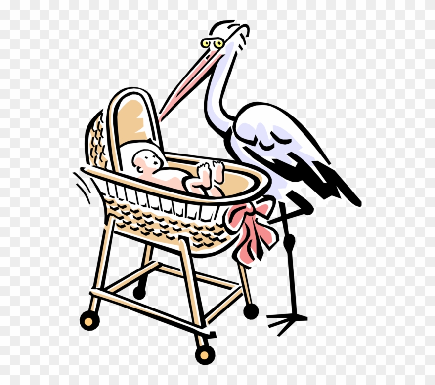 Vintage stork clipart clipart library library Vector Illustration Of 1950\'s Vintage Style Stork With ... clipart library library