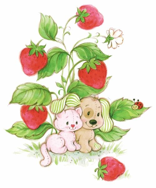 Vintage strawberry shortcake clipart graphic free Pupcake and Custard! | Strawberry Shortcake Classic ... graphic free