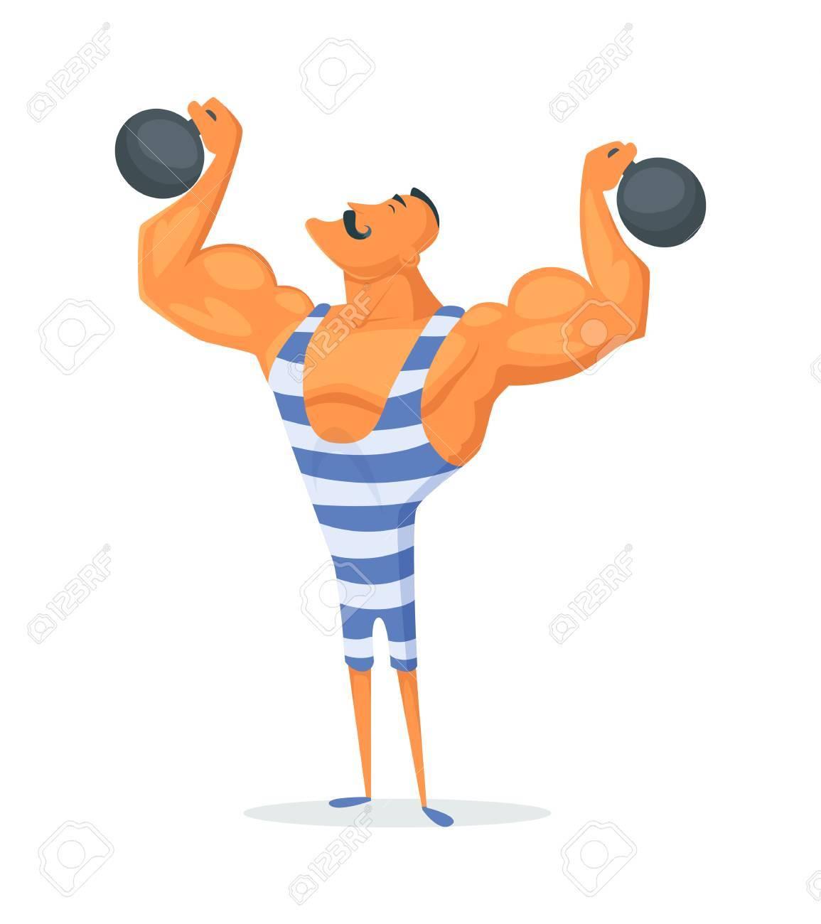 Vintage strong man clipart png Vintage Strongman. Ancient athlete. Retro bodybuilder ... png