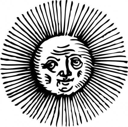 Vintage sun and hill clipart clipart black and white Free Vintage Sun Cliparts, Download Free Clip Art, Free Clip ... clipart black and white