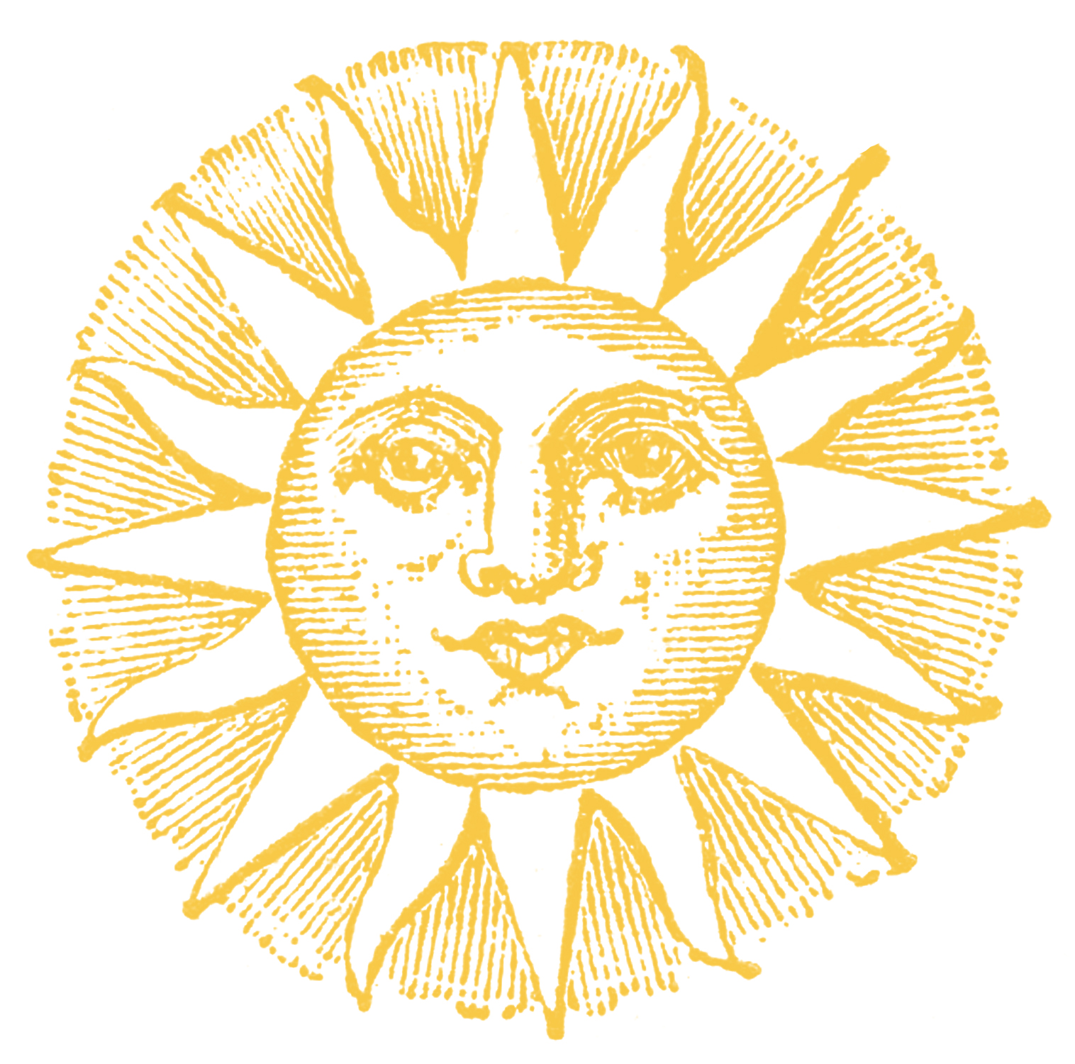 Vintage sun and hill clipart clip library stock Vintage Clip Art - Old Fashioned Sun with Face - The ... clip library stock