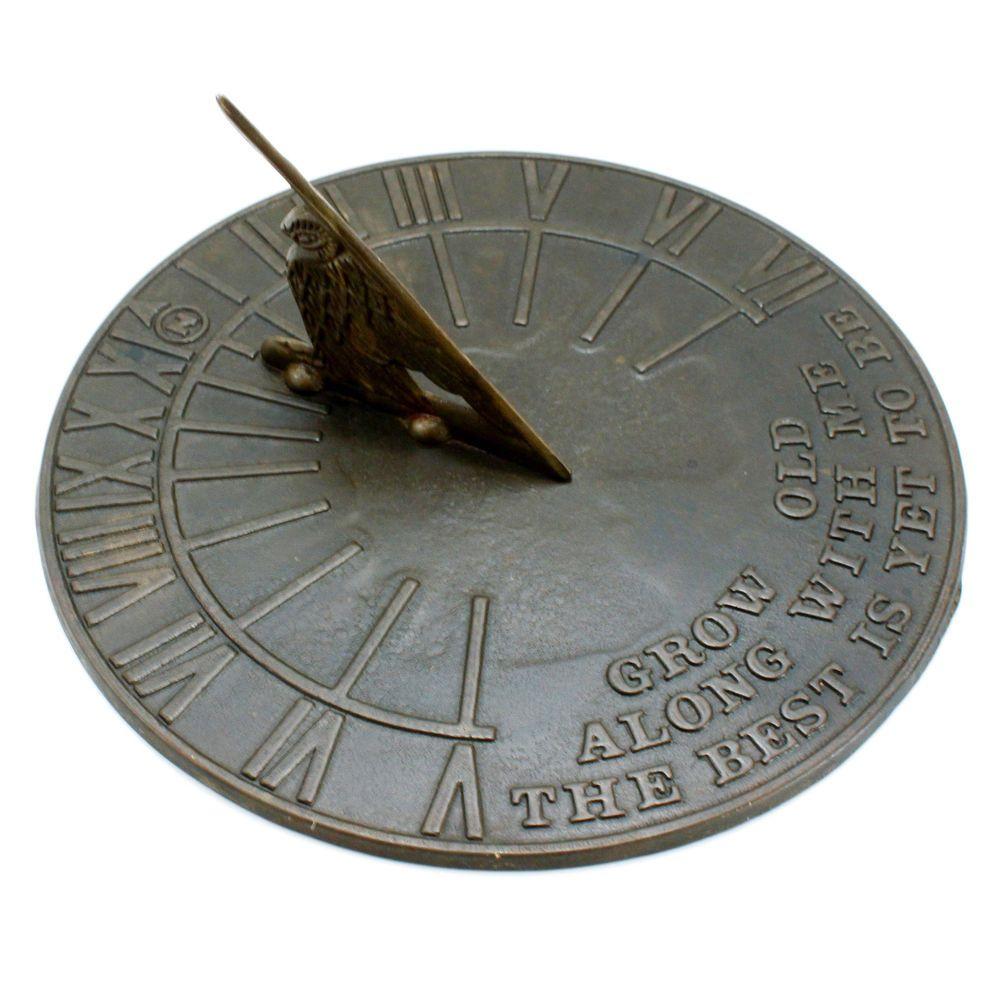 Vintage sundial clipart picture freeuse download Vintage Sundial Brass Bird Round Roman Numerals Industrial ... picture freeuse download