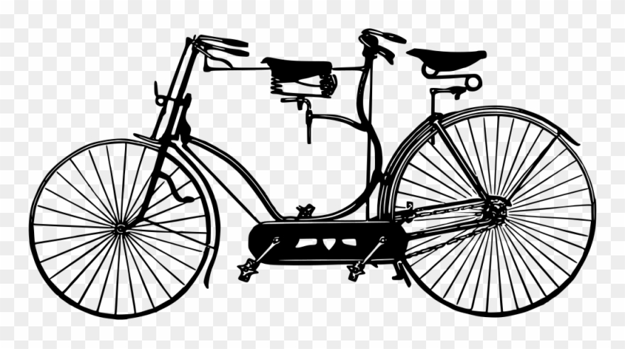Vintage tandem bike clipart picture freeuse library Antique Tandem - Tandem Bike Clipart Png Transparent Png ... picture freeuse library