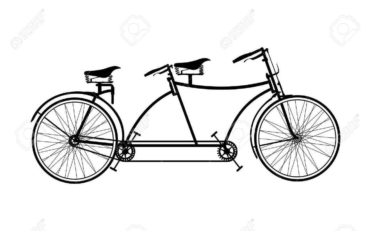 Vintage tandem bike clipart png transparent library 31+ Tandem Bike Clipart   ClipartLook png transparent library