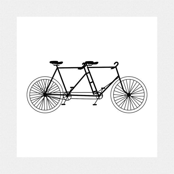 Vintage tandem bike clipart image freeuse library Tandem Bike Clipart & Look At Clip Art Images - ClipartLook image freeuse library