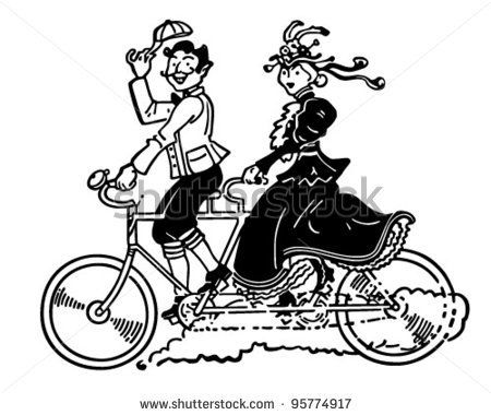 Vintage tandem bike clipart jpg transparent stock Bicycle Built for Two Images | Vintage Bicycle Clip Art Free ... jpg transparent stock
