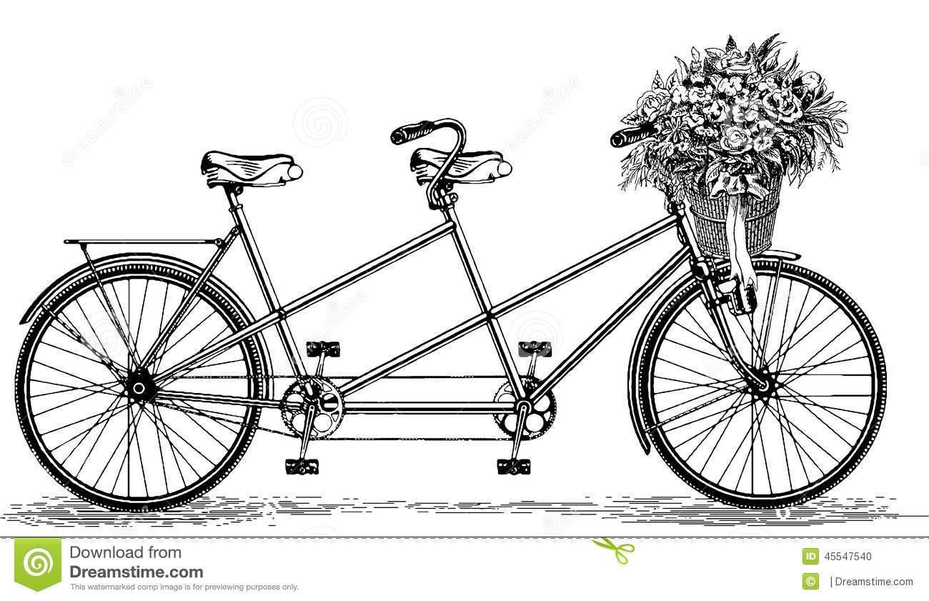 Vintage tandem bike clipart svg library Vintage tandem bicycle clipart 3 » Clipart Portal svg library