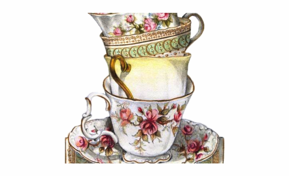Vintage tea cup clipart graphic royalty free library Drawn Tea Cup Vintage Teacup - Tea Party Illustration ... graphic royalty free library