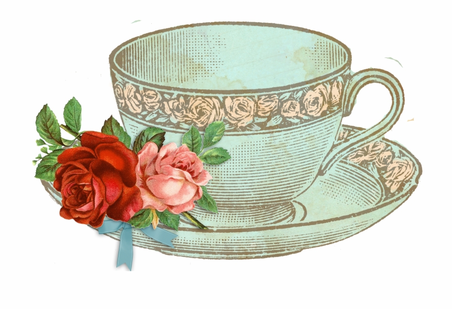 Vintage tea cup clipart picture free library Party Transparent Huge Freebie Download For - Vintage Tea ... picture free library
