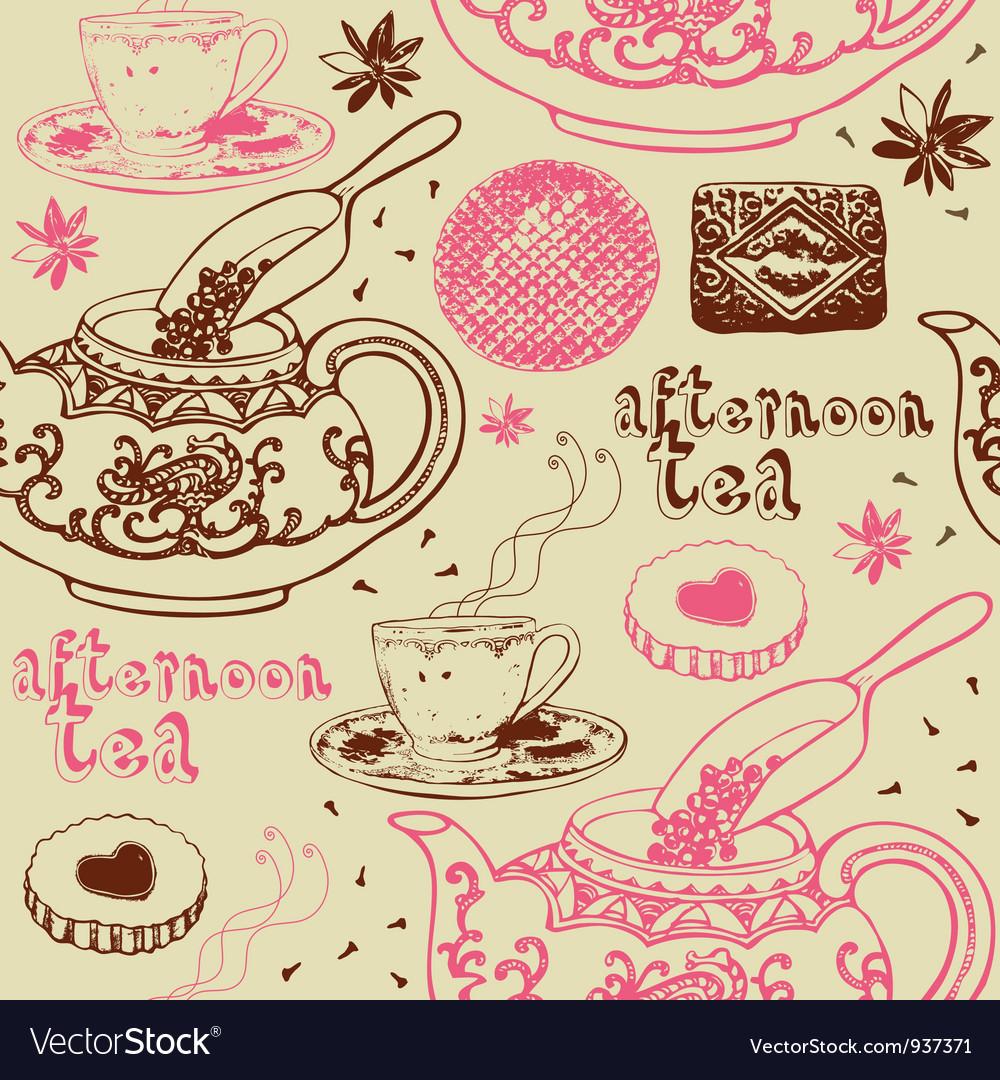 Vintage tea cup clipart background clip free Vintage Afternoon Tea Background clip free