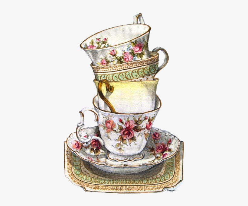 Vintage teacup clipart clipart library stock Vintage Tea Cup Drawing at PaintingValley.com | Explore ... clipart library stock