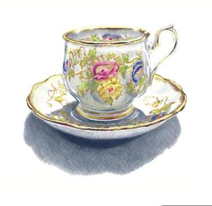 Vintage teacup clipart image free Vintage Teacup Clipart | Free Images at Clker.com - vector ... image free